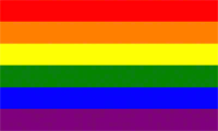 Gay Pride Flag (Current Six Colour Rainbow)