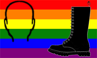 gay skinhead fetish pride flag